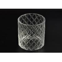Pillar Cut Glass Candle Holders Decorative Glassware Customizable
