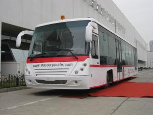 China PPG Painting Diesel Engine 14 Seat Aero Bus Apron Passenger Bus on sale