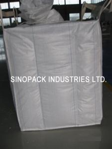 China 2200 Lbs Baffle Bag Industrial Big Bags FIBC Bulk Bag For Cement / Chemical Packaging on sale