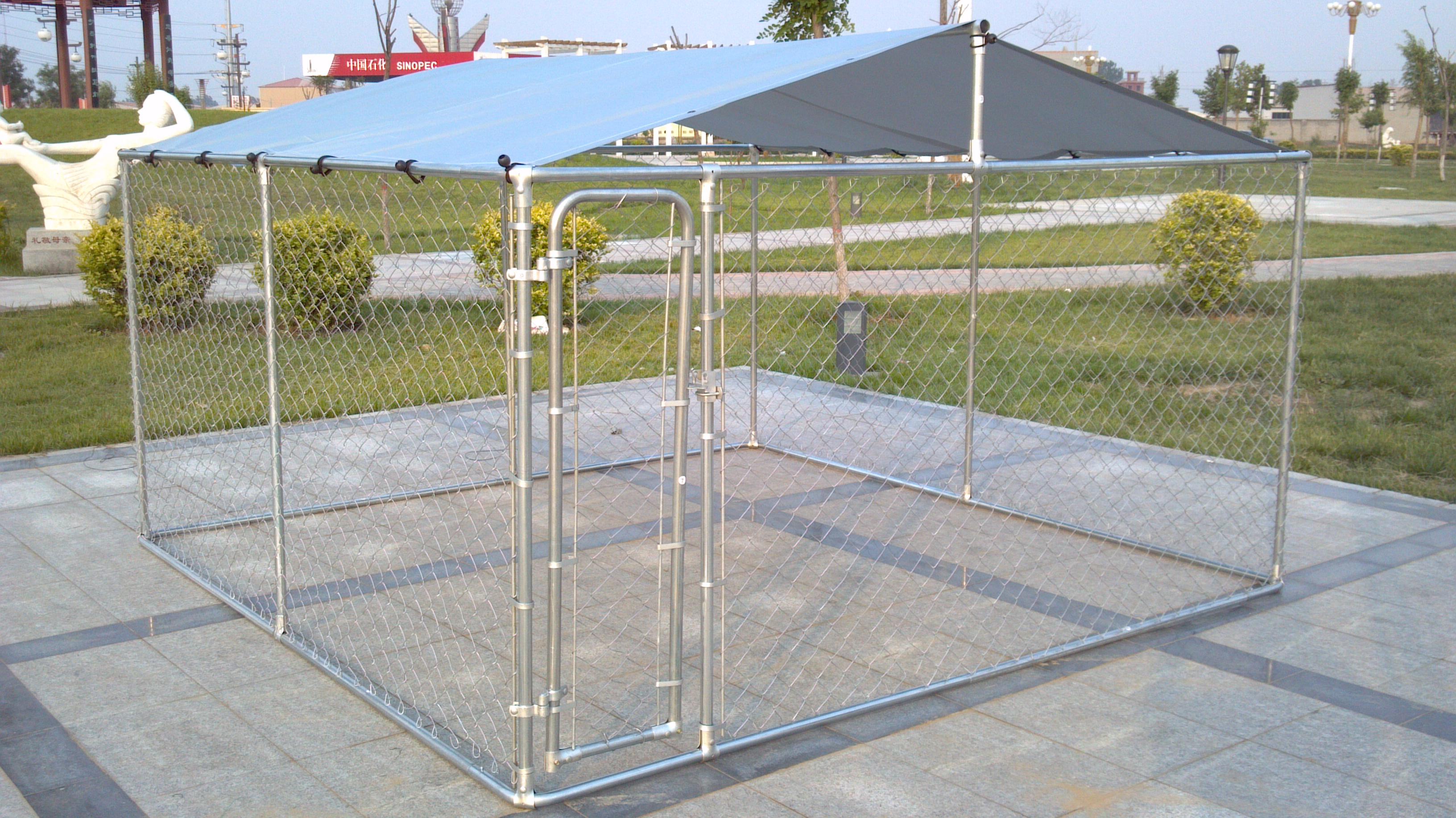 6feet x 10feet x 10feet dog kennel chain link fabric dog fencing ...