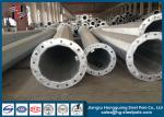 Anti Rust Customized Q235 Power Transmission Poles , Electrical Power Pole