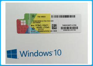 China OEM French Language Microsoft Windows 10 Pro Software online activation with COA sticker on sale