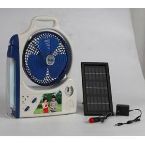 China High Quality Solar Power Mini Fan with LED Light on sale