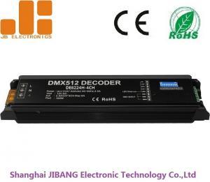 China AC100-240V DMX512 Decoder LED Dimmer Controller with 4 Channels DC24V Output on sale