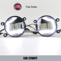 Fiat Doblo car front fog light DRL LED daytime driving lights upgrade