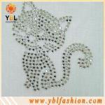 Cat animal hotfix rhinestone transfer for decoration