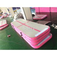 OEM & ODM 3m or 6m Long Pink Inflatable Tumble Track Air Floor Pro For Gym