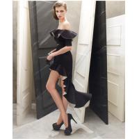 Off the shoulder Womens Suit Dress Halter Fishtail Skirt in black , white