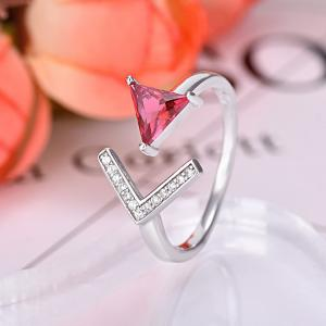 China Latest hot sale customized ruby wedding ring,engagment ring,925 sterling silver ring on sale