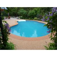 Jogging Tracks / Pool Deck Surfaces Rubber Material Anti Pressure And Shock