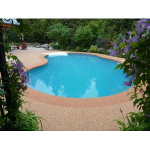 China Jogging Tracks / Pool Deck Surfaces Rubber Material Anti Pressure And Shock on sale