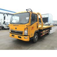 Road Vehicle Flatbed Tow Truck , Medium Duty 3t 24 Hour Tow Truck High Performance