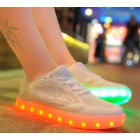The New Sneakers For  Female Leds Shoes Candy Color Usb Charging Light Shoes Breathable