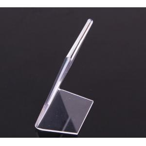 China L Shape Clear Plastic Sign Holder / Acrylic Table top Sign Holder on sale