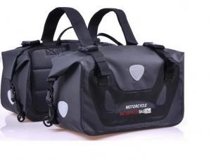 China 2*25 litres 500D PVC Tarpaulin Waterproof Motorcycle Saddle Bag OEM side bags dry pannier Bag on sale