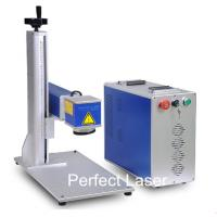 China 50Watt High Power Animal Ear Tag Laser Marking Machine / Fiber Laser Marker on sale