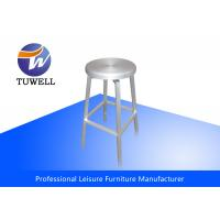 Anodizing Sturdy Backless Metal EMECO Navy Bzr Stool , Swivel Bar Stools