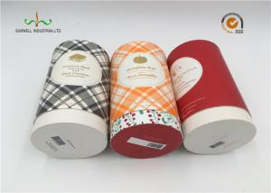 China Art Paper Cylinder Packaging Box , T - Shirt Tube Packaging For Clothing Packaging on sale
