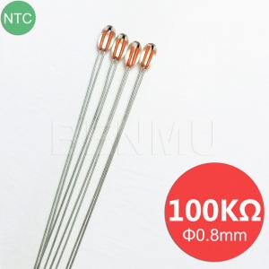 China MGB08 100K 1% 3950 with 0.8mm glass bead Small NTC Thermistor thermal resistor in Heater+solar+3D printer High temperatu on sale