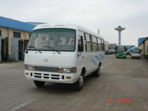 China Water Cooled And Direct Injection Diesel Mini Coaster Bus With 4 Cylinder on sale
