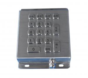China Movable desktop numeric smart card reader keypad metal stainless  IEC 60512-6 on sale