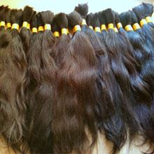 China wholesale 100% virgin remy human hair bulk in factory price on sale