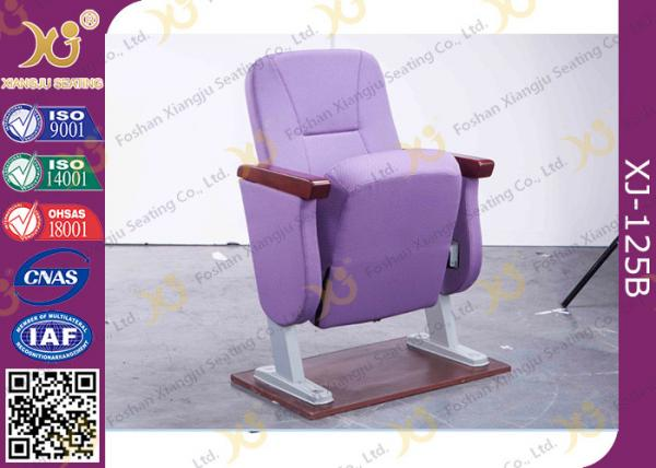 Strange Purple Folding Church Hall Chairs With Fabric Covers Machost Co Dining Chair Design Ideas Machostcouk