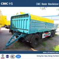 China tri-axle 20ft draw bar semi-trailer with dropping side boards on sale