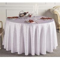 Custom White Wedding Linen Tablecloths / Decorative Round Table Covers