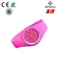Multifunction Pink Silicone Wrist Watch , Silicone Bracelet Watches