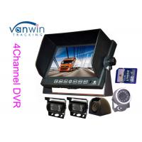 Bus / truck / trailer / coach 7 inch TFT Car Monitor AHD with 720P camera , SD Card