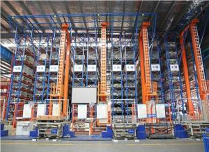 China Cladding Self Rack Supported ASRS Racking System For Food / Transport Services Industry on sale