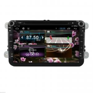 China 8 inch capacitive screen car stereo for VW android 4.4 with bluetooth,radio,SD card,ipod, GPS ,8G wifi on sale