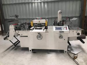 China 320 high precision sticker label automatic die cutting machine with hot stamping supplier