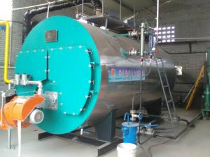 China Smoke Pipe Automatic Steam Boiler Machine , High Efficiency Steam Boiler on sale
