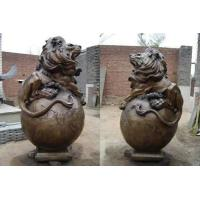China bronze lion statues on sale