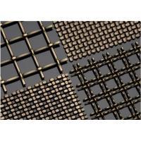 Plain Woven Brass Wire Mesh , Decorative Brass Wire Cloth 70% Copper Plus 30% Zinc