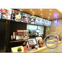 Slim Metal Shell Digital Menu Board Wall Mount LCD Screen Remote Control For Restaurant