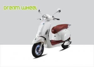 China 1000 Watt Electric 2 Wheel Scooter 50Km - 53Km / H 60V 20Ah Battery Vespa Style on sale