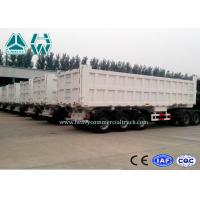 China 45 Ton 3 Axles Dump Tractor Trailer / Semi Dump Trailers Low Friction on sale