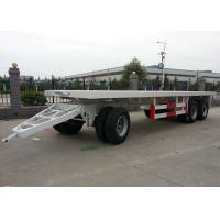 China Steel Container 20 Foot Flatbed Trailer With Draw Bar Pulling And Three Axles on sale
