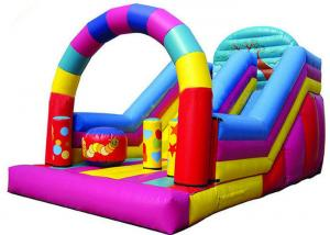 China Colorful Big Party Teens Arch Large Inflatable Slide Digital Printing Fireproof on sale
