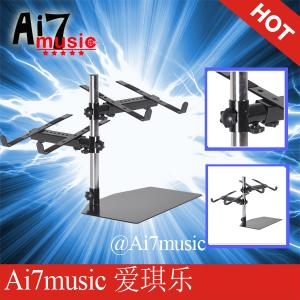 China Ai7music Multi angle adjustment DJ Laptop Stands Black LS-21D Multi Height adjustment CD Stands Multi Depth adjustment on sale