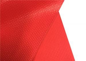 China Pvc Red Polyester Oxford Fabric 20*20 Density Apply To Shoes Textile / Industry on sale