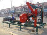 ディーゼル機関の横の帯鋸が付いている中国の携帯用製材移動式製材所