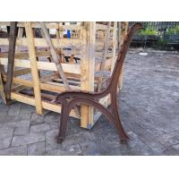 Long Outdoor Wooden Cast Iron Bench Seat Ends For Street Furniture