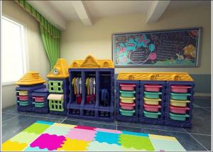 China plastic kids preschool furniture for classroom, preschool furniture and equipment set on sale