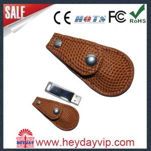China leather 8gb usb flash drive real capacity with logo on sale