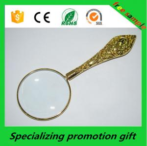 China Customized Promotional Stationery Metal Handheld Magnifier 5x on sale