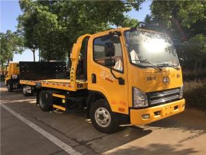 China Small 4×2 White 4.5 Ton FAW Road Wrecker Truck Diesel Fuel Type Euro V on sale